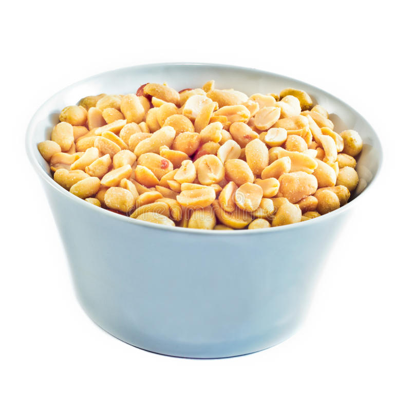 Roasted Peanuts in a bowl royalty free stock image