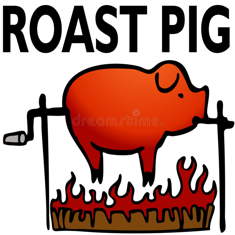 Roasted Pig. An image of a roasted pig