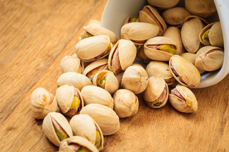 Roasted pistachio nuts seed with shell royalty free stock photos