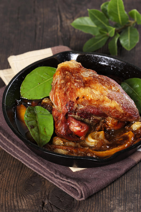 Roasted pork stock image
