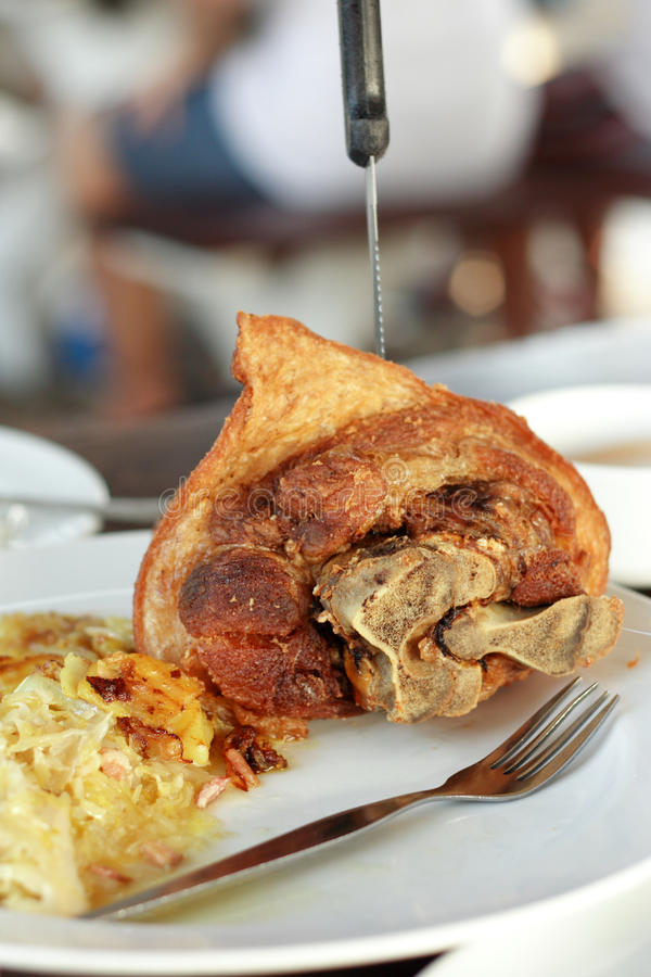 Roasted Pork Knuckle. Favorite Thai Food stock images