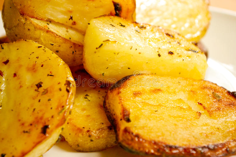 Download Roasted potatoes stock image. Image of fried, ready, patatas - 12527085
