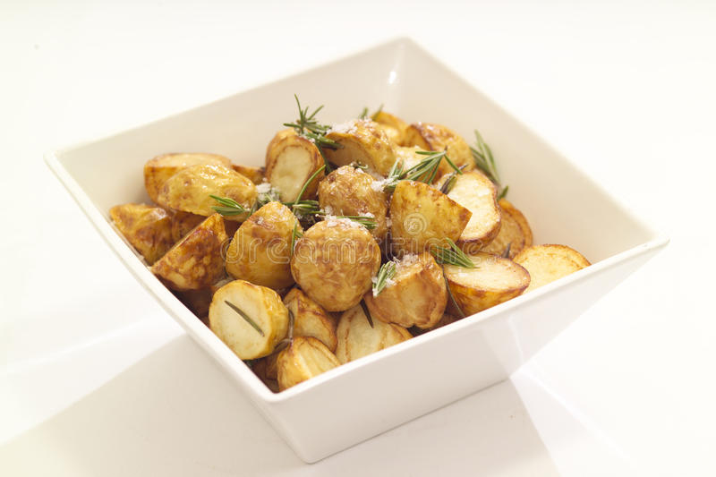 Download Roasted potatoes stock image. Image of white, square - 25131589