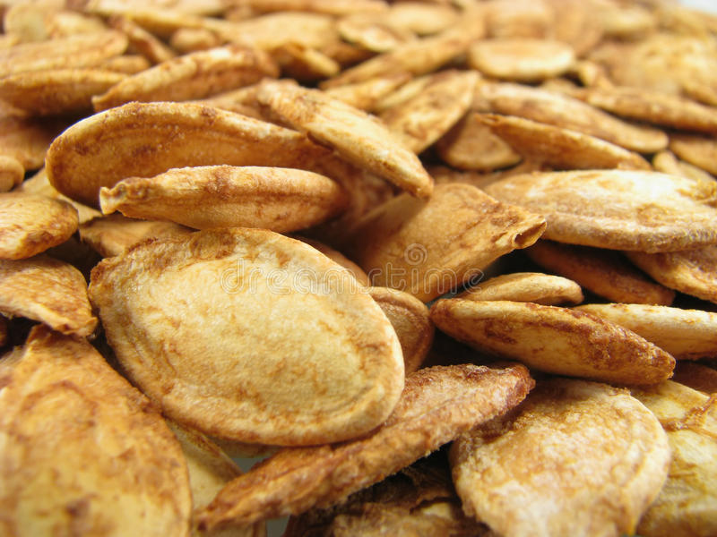 Roasted pumpkin seeds royalty free stock photo