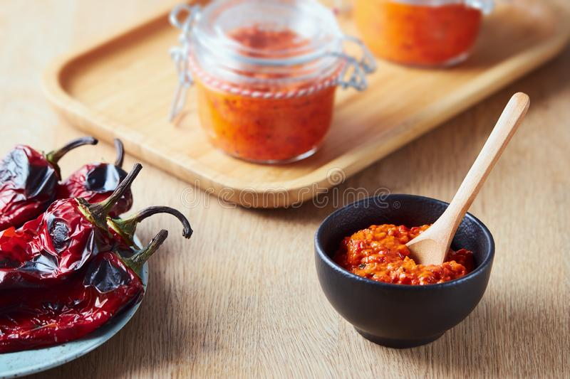 Roasted Red Pepper Relish Ajvar royalty free stock photography