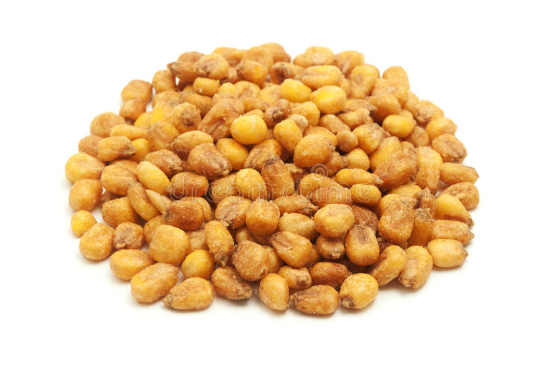 Roasted salted corn nuts stock photo