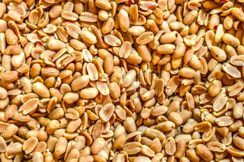 Roasted and salted peanuts royalty free stock photo