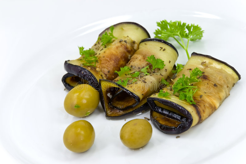 Download Roasted Slices Of Eggplant,chestnuts,vegetable,che Stock Image - Image: 6640753
