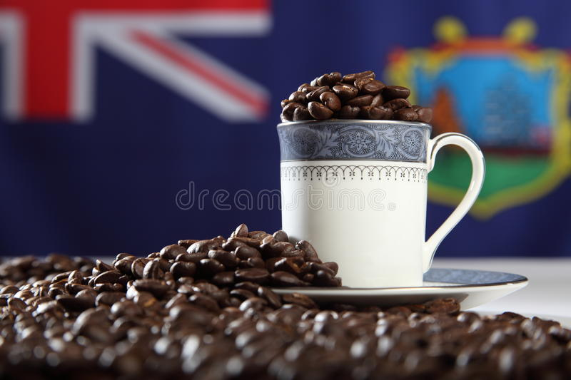 Download Roasted StHelena Island Coffee Beans With Flag Stock Image - Image: 16775633
