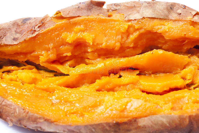 Roasted sweet potato royalty free stock photo