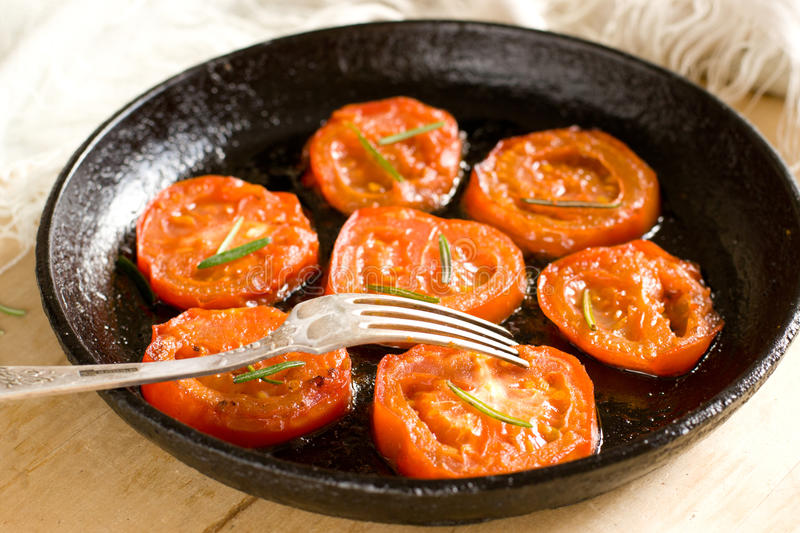 Roasted tomatoes stock photo
