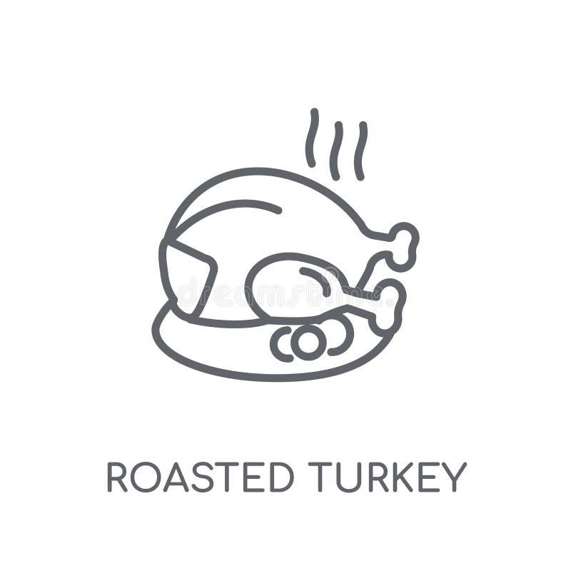 Roasted turkey linear icon. Modern outline Roasted turkey logo c royalty free illustration