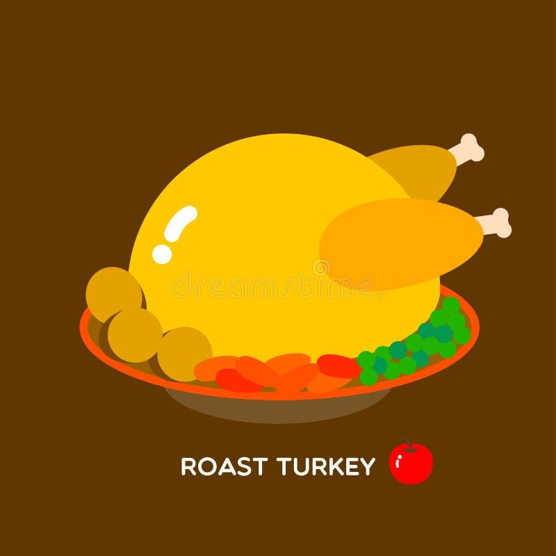 ROASTED TURKEY vector illustration