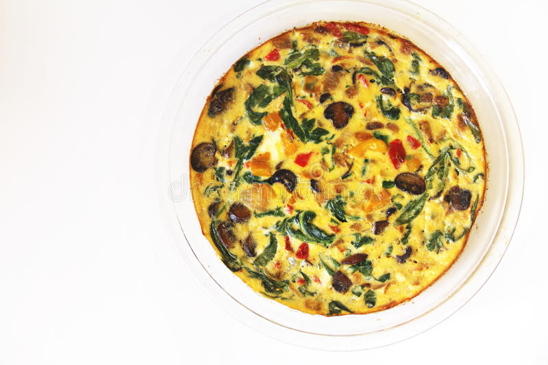 Roasted vegetable fritatta stock photo