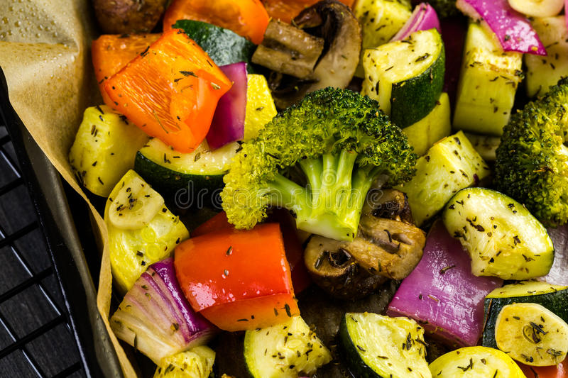 Roasted vegetables royalty free stock image