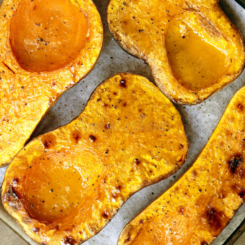 Download Roasting Butternut Pumpkin For Soup Stock Photo - Image: 83721616
