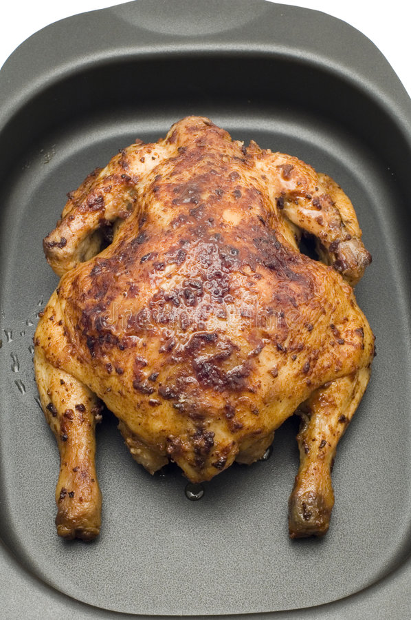 Roasting chicken royalty free stock photo