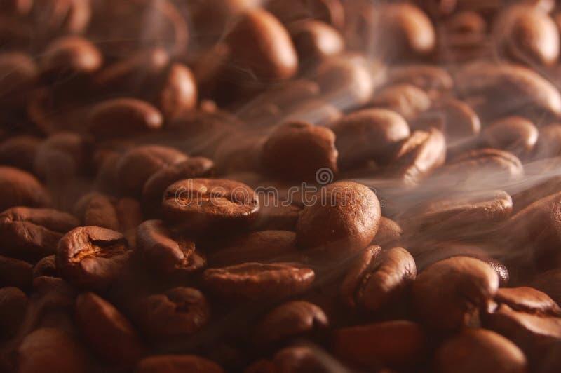 Roasting coffee stock photo