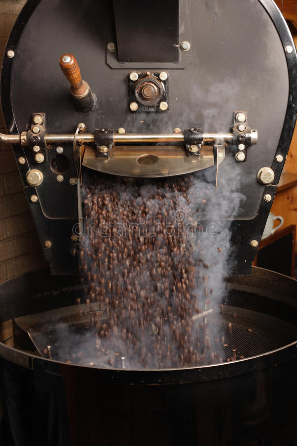 Roasting coffee beans royalty free stock images