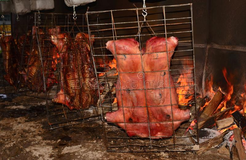 Roasting of the Pig royalty free stock images