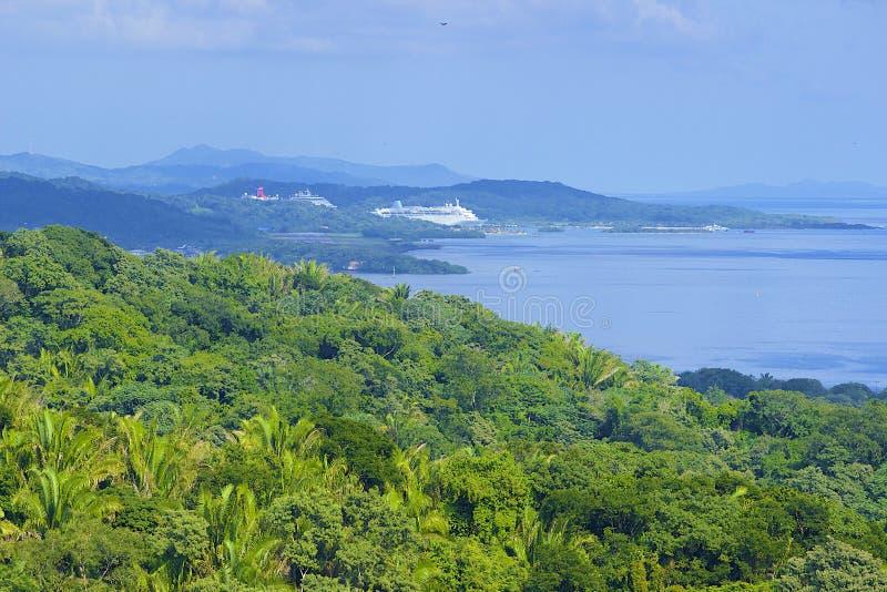 Roatan,洪都拉斯全景  库存图片