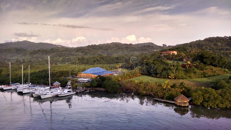 Roatan Mahogany Bay in the Summer stock photos