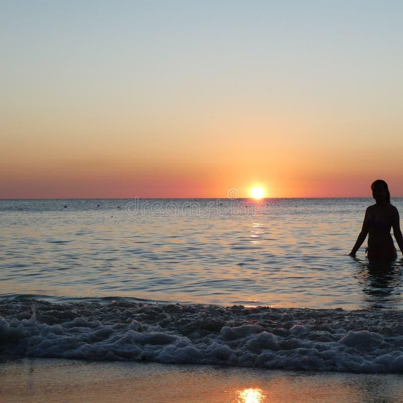 Roatan zmierzchów Honduran morza Piękny Ameryki obrazy royalty free
