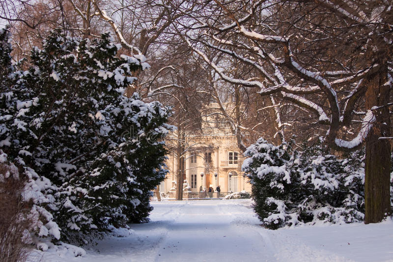 Roayl Baths park during the winter royalty free stock photography