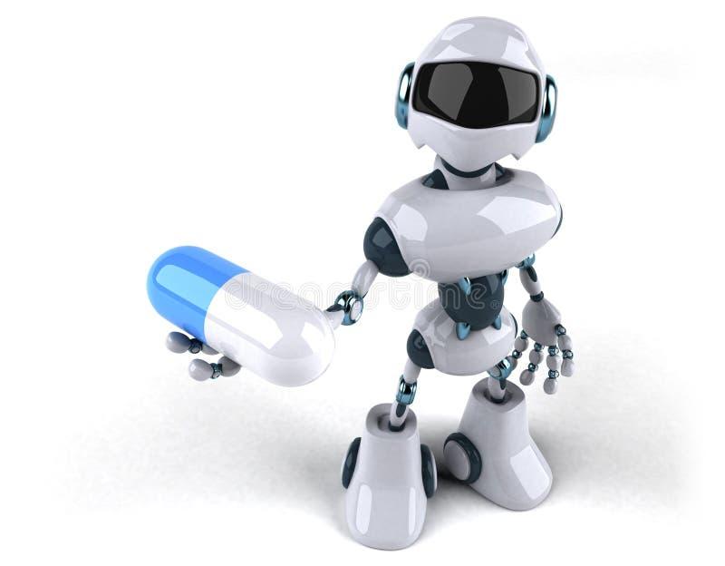 Robô ilustração royalty free
