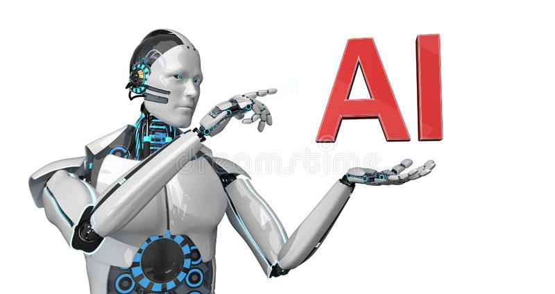 Robô AI ilustração royalty free