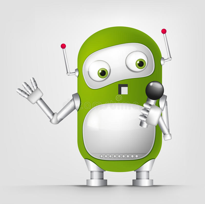 Robô bonito ilustração do vetor
