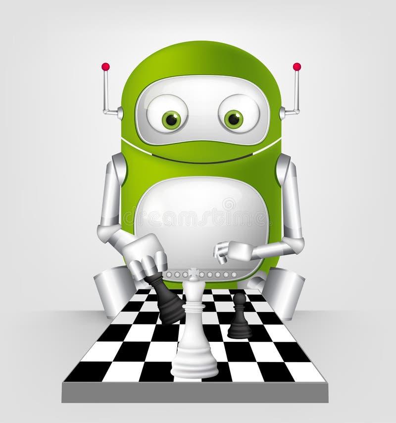 Robô bonito ilustração royalty free