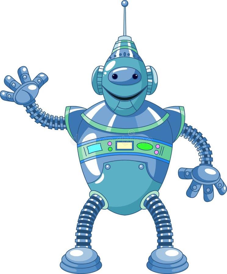 Robô bonito dos desenhos animados ilustração stock