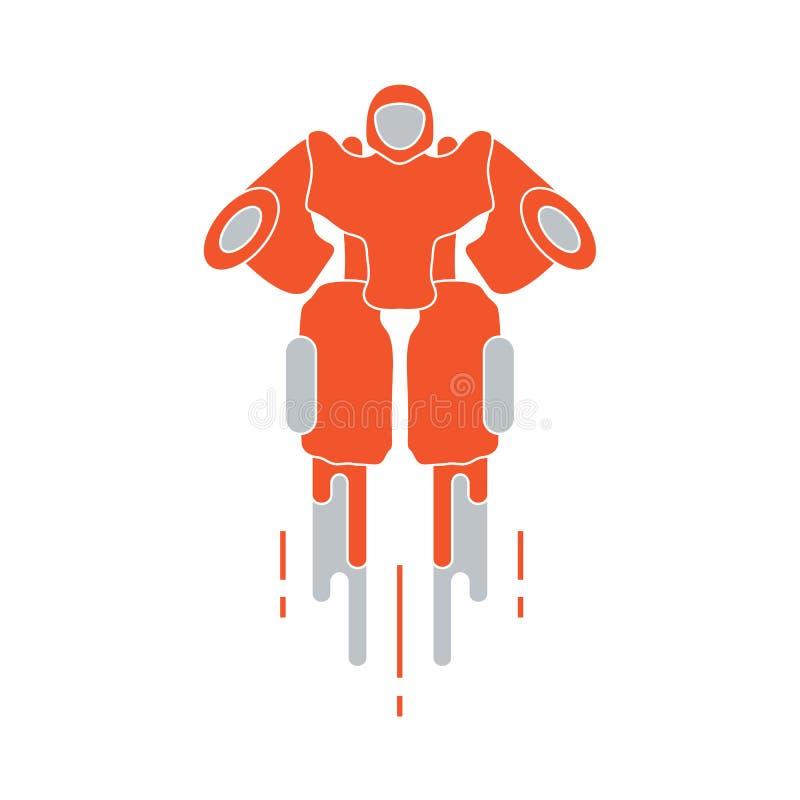 Robô Brinquedos para a ilustração de children Robótica, tecnologias ilustração do vetor
