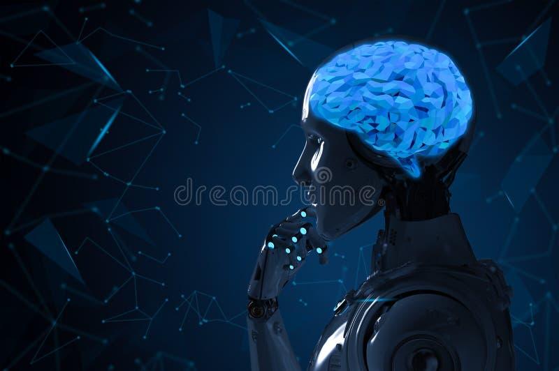 Robô com cérebro do ai