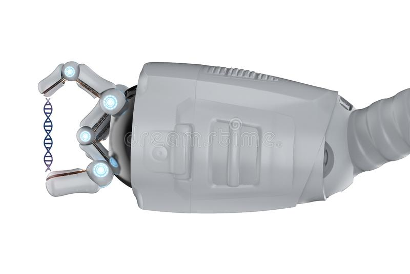 Robô com hélice do ADN ilustração stock