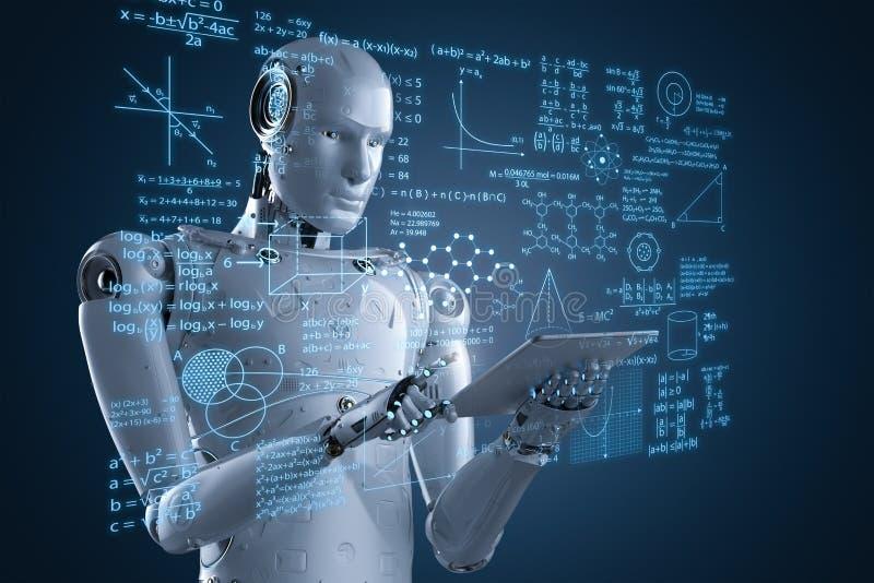 Robô com hud da educação fotos de stock royalty free
