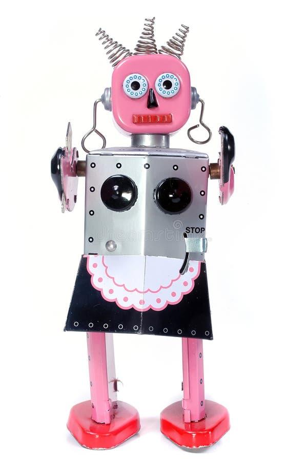 Robô da empregada doméstica do brinquedo fotos de stock royalty free