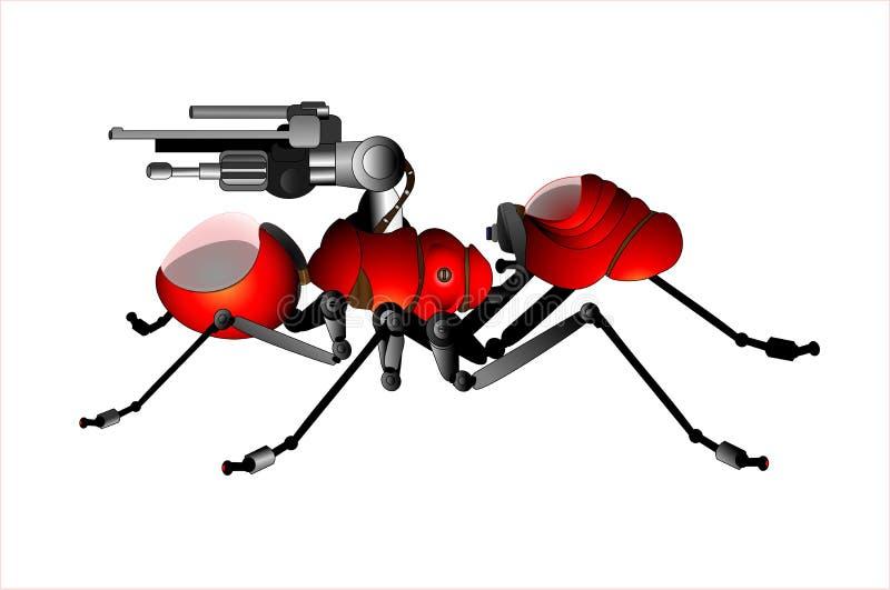 Download Robô da formiga do soldado ilustração stock. Ilustração de formiga - 26504313