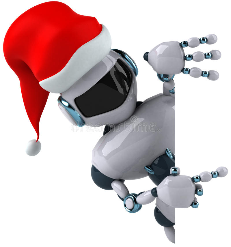 Robô de Santa ilustração stock