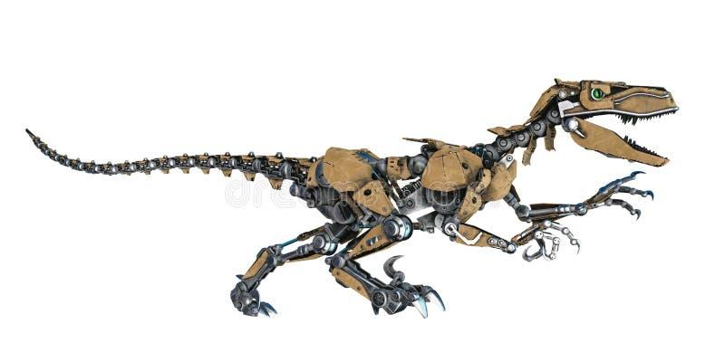 Robô do dinossauro em um fundo branco ilustração do vetor