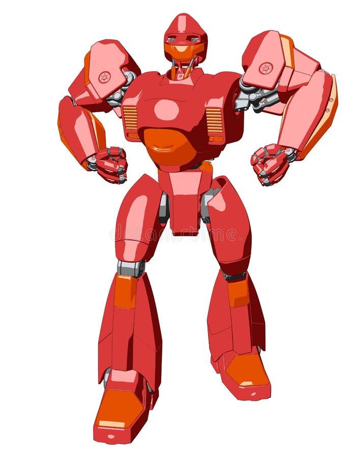 Robô do gigante do estilo do Anime ilustração royalty free