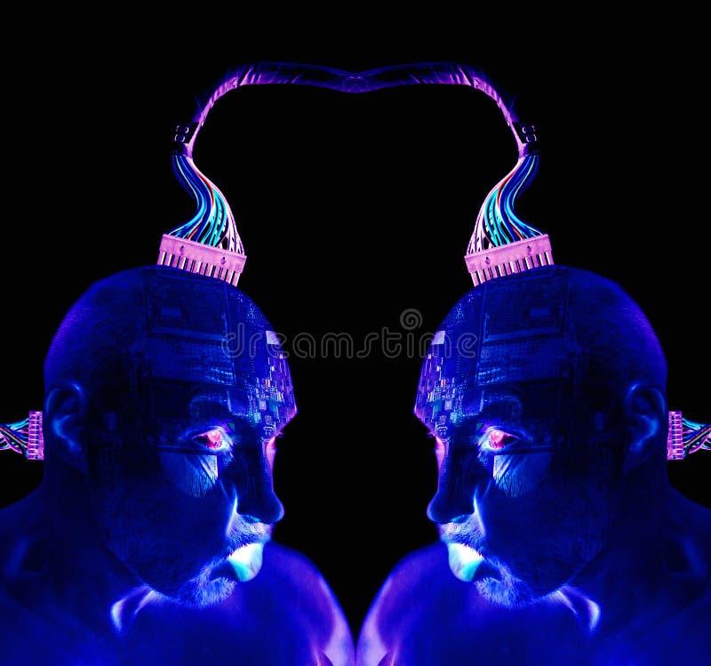 Robô do ser humano do Cyborg foto de stock