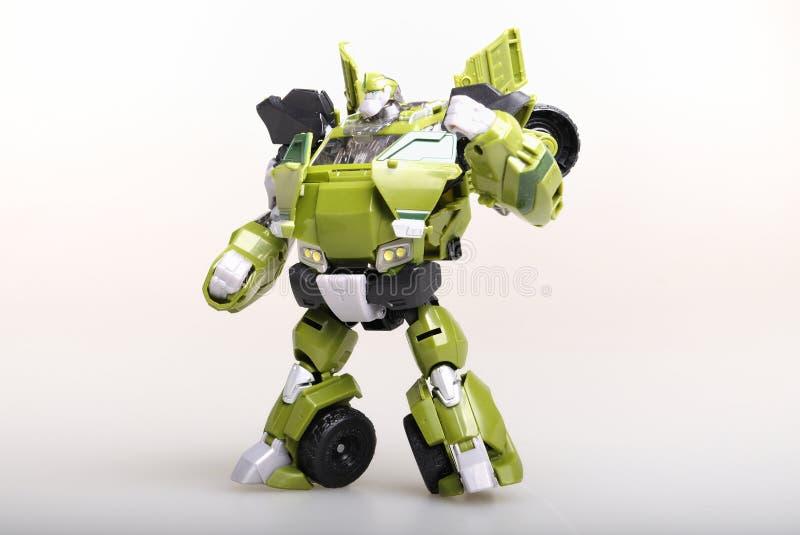 Robô do transformador do brinquedo fotos de stock royalty free