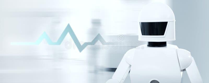 Robô dos cuidados de enfermagem em um hospital ou em um cirurgião imagens de stock royalty free