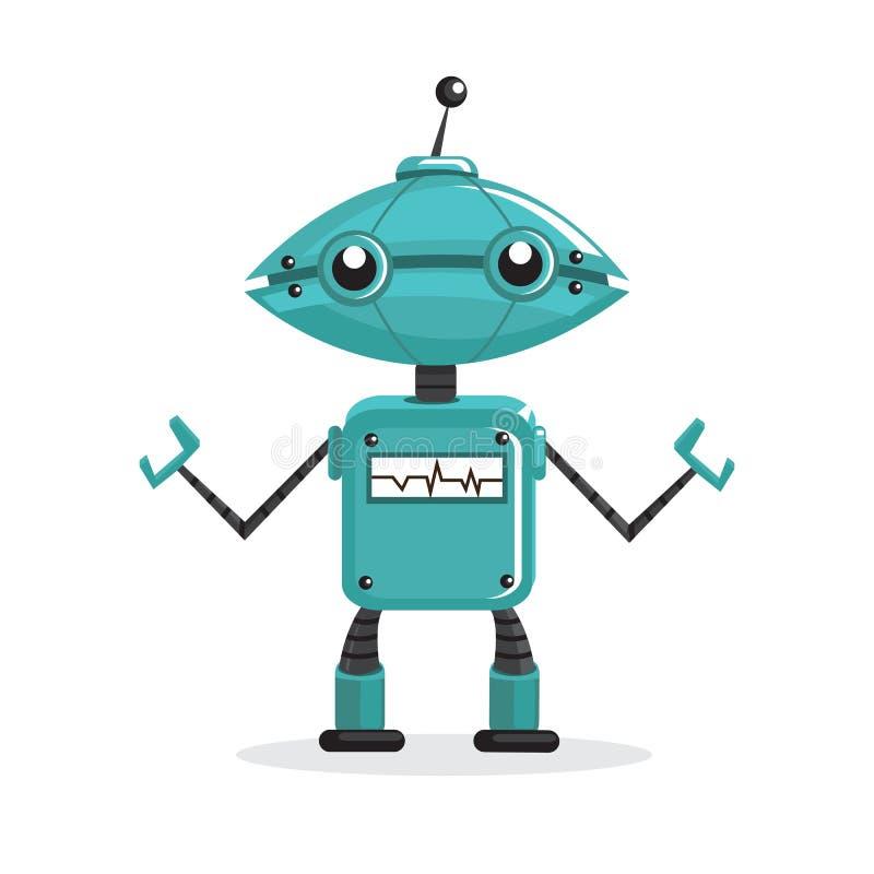 Robô dos desenhos animados ilustração do vetor
