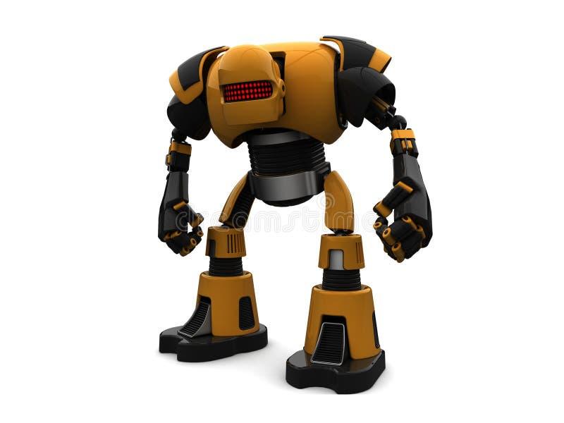 Robô dourado ilustração do vetor