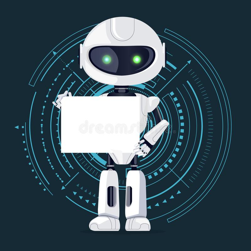 Robô e folha de papel, ilustração do vetor ilustração royalty free