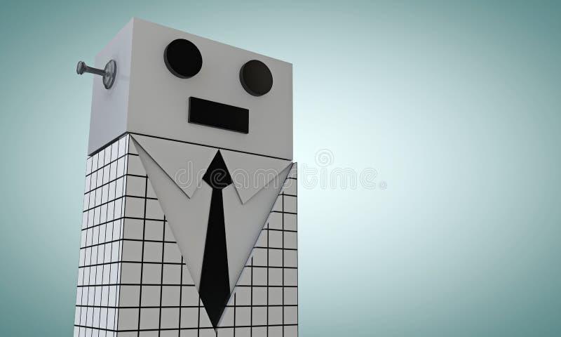 Robô elegante ilustração do vetor