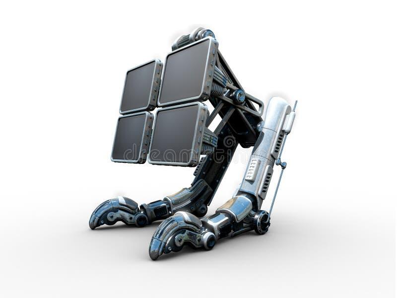 Robô equipado com pernas futurista ilustração stock